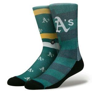 STANCE MLB Baseball Oakland Athletics a's Socks M